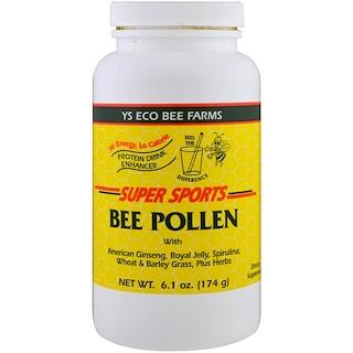 Y.S. Eco Bee Farms, Super Sports, حبوب لقاح النحل، شراب بروتين محسن، 6.1 أوقية (174 جم)