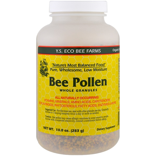 Y.S. Eco Bee Farms, Gránulos enteros de polen de abeja, 10.0 oz (283 g)
