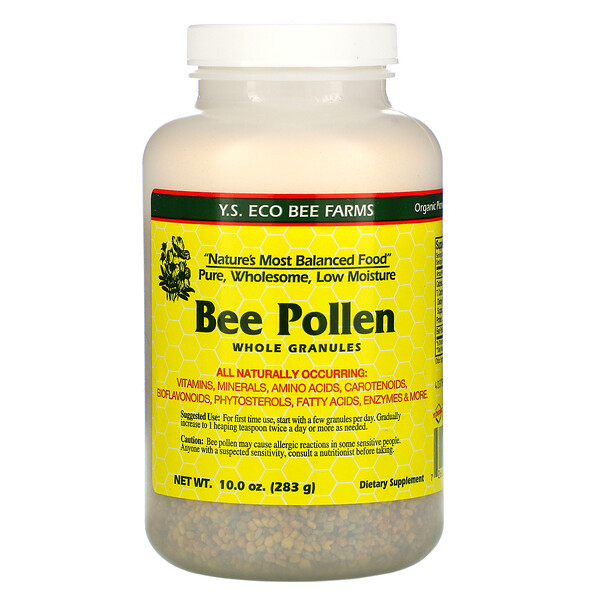 Y.S. Eco Bee Farms, Bee Pollen Granules, Whole, 10.0 oz (283 g)