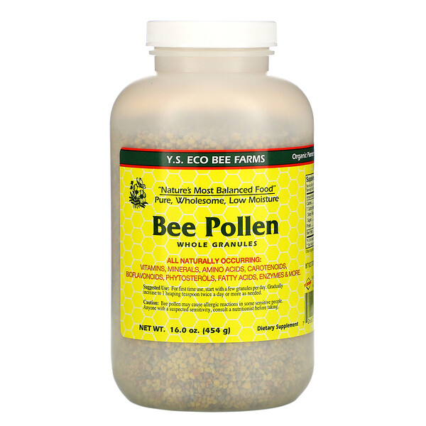 Y.S. Eco Bee Farms, Bee Pollen Granules, Whole, 16.0 oz (454 g)