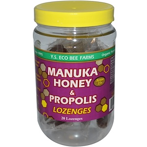 ЙС Эко Би Фармс, Manuka Honey & Propolis Lozenges, Active 15+, 20 Lozenges, 3.2 oz (92 g) отзывы покупателей
