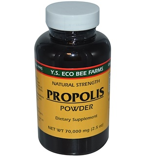 Y.S. Eco Bee Farms, Propolis Powder, 2.5 oz (70,000 mg)