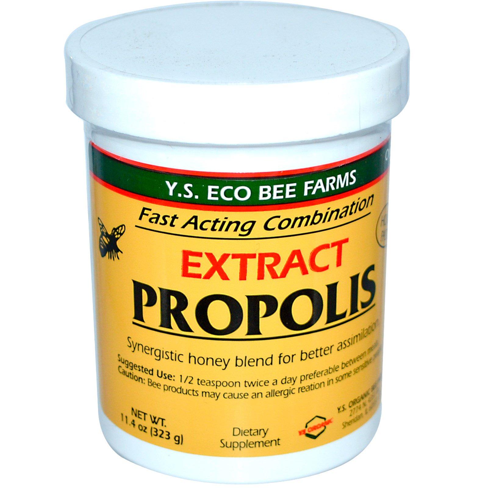 Y S  Eco Bee Farms, Propolis, Extract, 11 4 oz (323 g