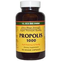 Прополис 1000, 500 mg, 90 овощных капсул - фото