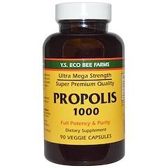 Y.S. Eco Bee Farms, Propolis 1000، 500 mg, 90 كبسولة نباتية
