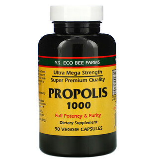 Y.S. Eco Bee Farms, Propolis 1000, 90 Veggie Capsules