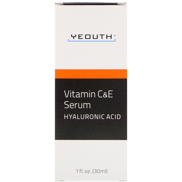 Yeouth, Vitamin C & E Serum with Hyaluronic Acid, 1 fl oz (30 ml)