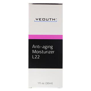 Yeouth, مرطب L22 المكافح لعلامات الشيخوخة، 1 أونصة سائلة (30 مل)