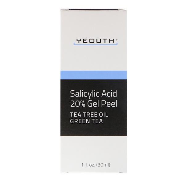 Yeouth, Salicylic Acid, 20% Gel Peel, 1 fl oz (30 ml) (Discontinued Item)