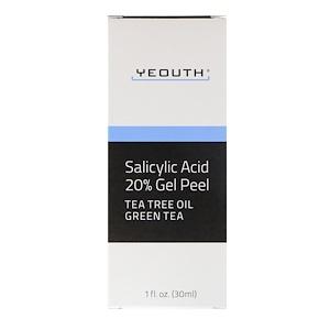 Yeouth, Salicylic Acid, 20% Gel Peel, 1 fl oz (30 ml) отзывы