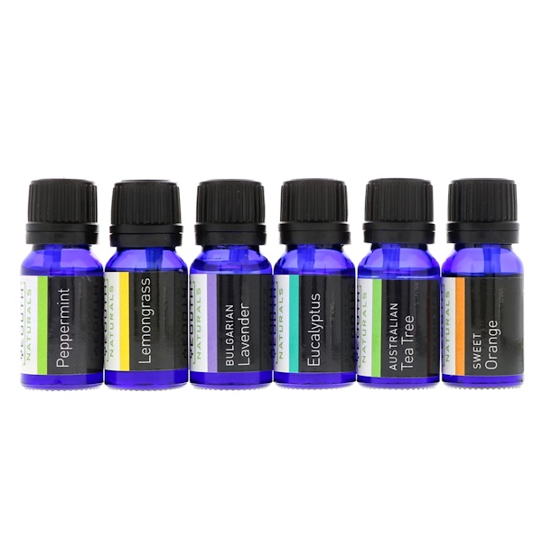 Therapeutic Grade Essential Oil, Starter Therapy Pack, 6 Pack, .34 fl oz (10 ml) Each
