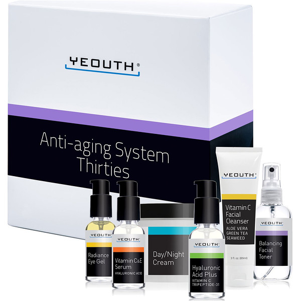 Yeouth, Yeouth, Anti-Aging System, Thirties, 6 Piece Set (Discontinued Item)
