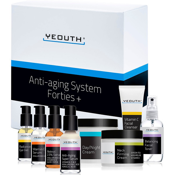 Yeouth, Anti-Aging System, Forties +, 8 Piece Set (Discontinued Item)