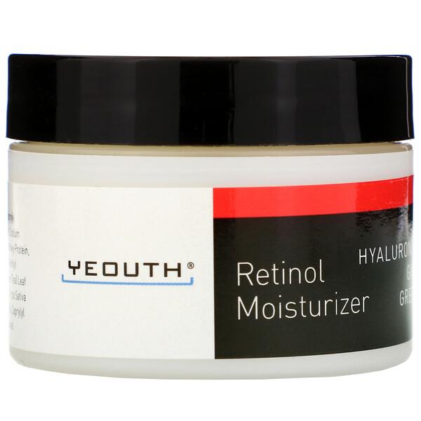 Retinol Moisturizer, Hyaluronic Acid, Ginseng, Green Tea, 1 fl oz (30 ml)