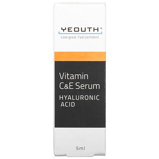 Yeouth, Vitamin C & E Serum, 5 ml