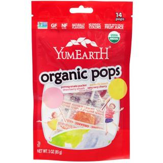 YumEarth, Organic Pops, Assorted Flavors, 14 Lollipops, 3 oz (85 g)