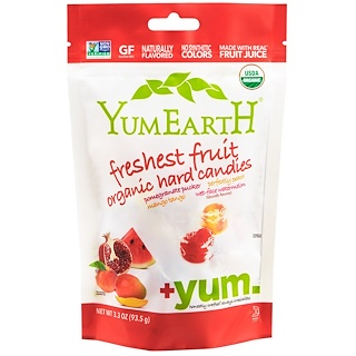YumEarth, Organic Hard Candies, Freshest Fruit , 3.3 oz (93.5 g)