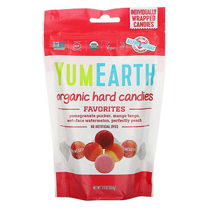 Ям Ерт, Organic Hard Candies, Favorite Fruits, 3.3 oz (93.6 g) отзывы покупателей