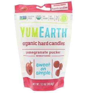 YumEarth, Organic Hard Candies, Pomegranate Pucker, 3.3 oz (93.6 g)