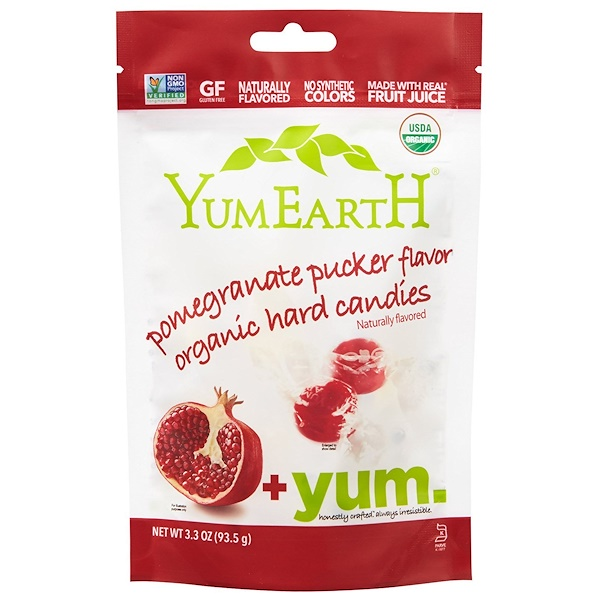YumEarth, Organic Hard Candies, Pomegranate Pucker, 3.3 oz (93.5 g)