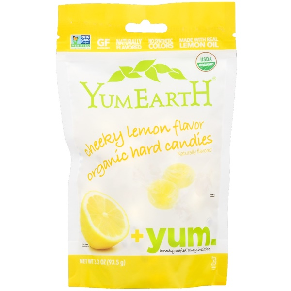 YumEarth, Organic Hard Candies, Cheeky Lemon, 3.3 oz (93.5 g)