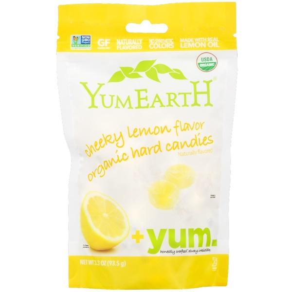 YumEarth, Doces Rígidos Orgânicos, Limão Sorridente, 3,3 oz (93,5 g)