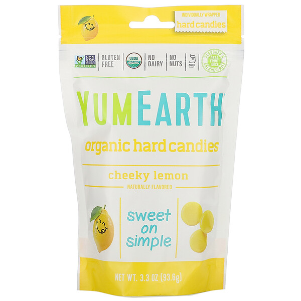 Organic Hard Candies, Cheeky Lemon, 3.3 oz (93.6 g)