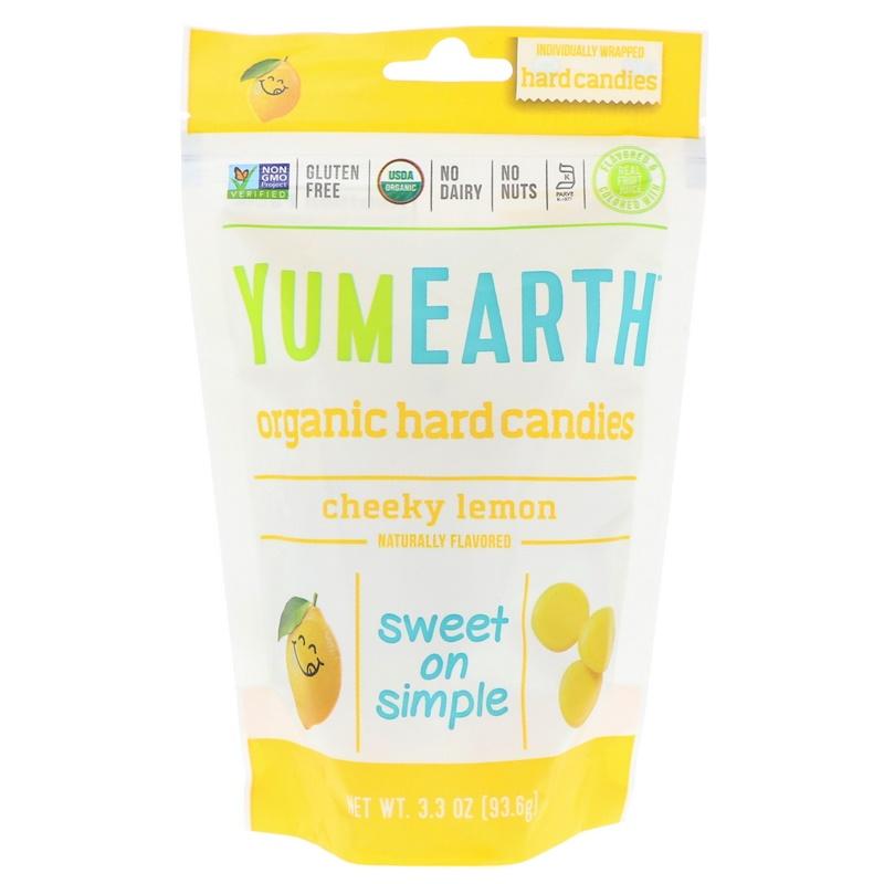 Organic Hard Candies, Cheeky Lemon, 3.3 oz (93.6 g)