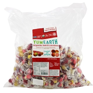 YumEarth, Organic Hard Candies, Assorted Flavors, 80 oz  (2268 g)