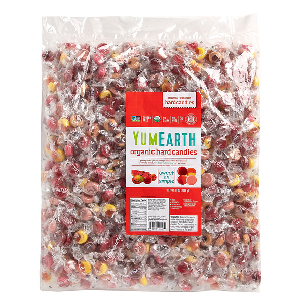 Organic Hard Candies, Assorted Flavors, 80 oz (2268 g)