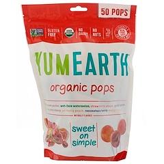 YumEarth, 오가닉 팝스, 다양한 맛, 팝 50 개, 12.3 oz (349 g)
