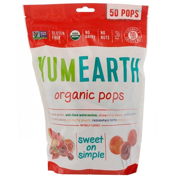 Organic Pops, Assorted Flavors, 50 Pops, 12.3 oz (348.7 g)