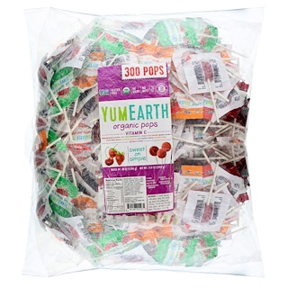 YumEarth, Organic Pops Vitamin C, 300 Pops, 5 lbs (2268 g)