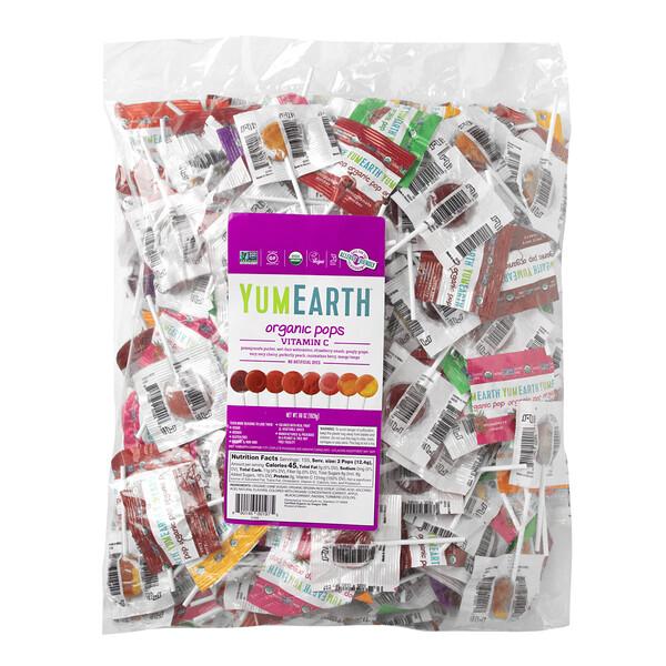 YumEarth, Organic Pops, Vitamin C, 68 oz (1,928 g)