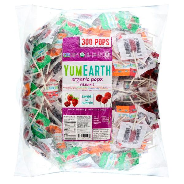 Organic Pops Vitamin C, 300 Pops, 5 lbs (2268 g)