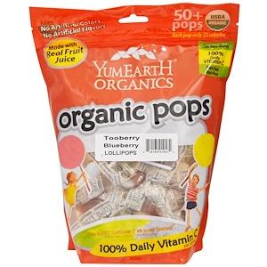 Ям Ерт, Organic Pops, Tooberry Blueberry Lollipops, 50+ Pops approx, 12.3 oz (349 g) отзывы покупателей