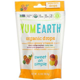 YumEarth, Balas Orgânicas de Vitamina C, Bosque Cítrico, 93,5g (3,3oz)