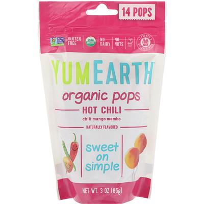 Купить Organic Hot Chili Pops, Chili Mango Mambo, 14 Pops, 3 oz (85 g)