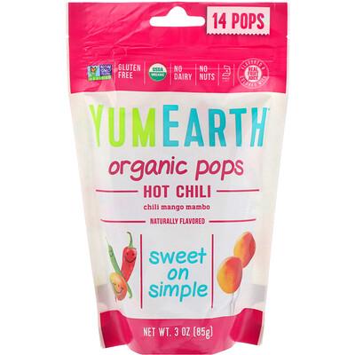 Organic Hot Chili Pops, Chili Mango Mambo, 14 Pops, 3 oz (85 g)
