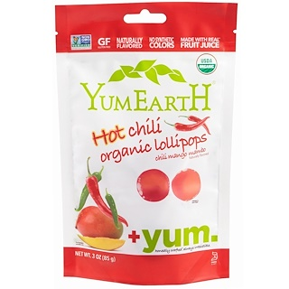 YumEarth, Organic Hot Chili Pops, Chili Mango Mambo, 3 oz (85 g)