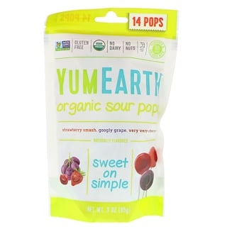 YumEarth, Organics, Sour Pops, Assorted Flavors, 14 Pops, 3 oz (85 g)