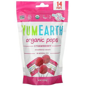 Ям Ерт, Organic Strawberry Pops, Strawberry Smash, 14 Pops, 3.1 oz (87 g) отзывы