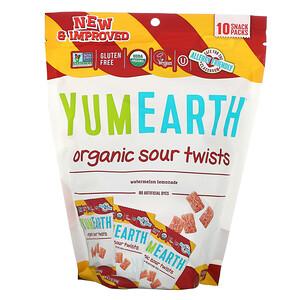 Ям Ерт, Organic Sour Twists, Watermelon Lemonade, 10 Snack Packs, 0.7 oz (19.8 g) Each отзывы покупателей