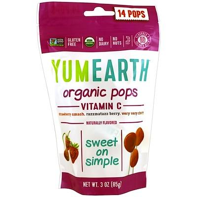 Органические леденцы с витаминомC, 14леденцов, 85г (3унции) органические леденцы дерзкий лимон 93 6 г 3 3 унции
