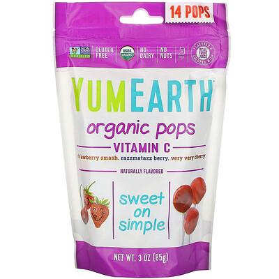 Купить YumEarth Органические леденцы с витаминомC, 14леденцов, 85г (3унции)