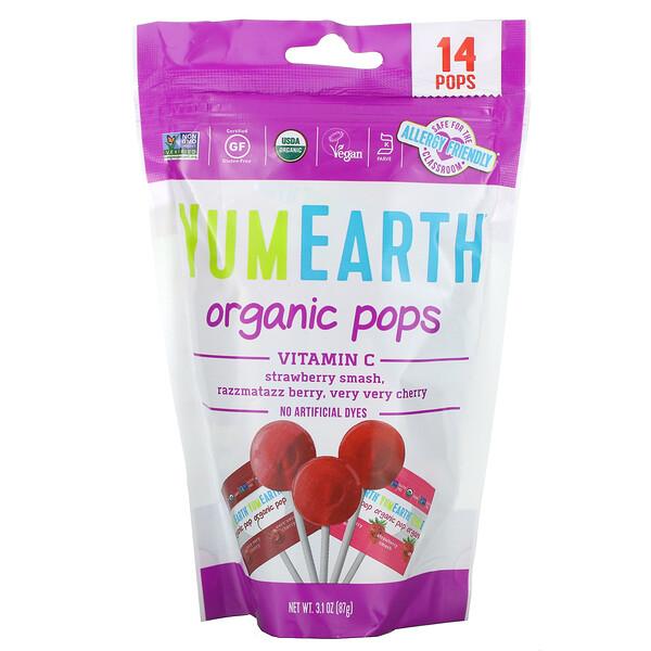Organic Vitamin C Pops, 14 Pops, 3.1 oz (87 g)