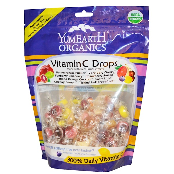 YumEarth, Organic Candy Drops, Vitamin C, Assorted Flavors, 11.7 oz (332 g) (Discontinued Item)