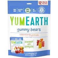 YumEarth, 거미 베어스, 다양한 맛, 스낵 팩 10 개, 각 25.5 g