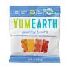 YumEarth, דובוני גומי, טעמים שונים, 43 חבילות, 19.8 גרם (0.7 אונקיות) כל אחת