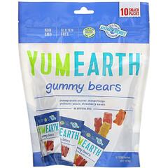 YumEarth, 小熊軟糖,什錦味,10 袋,每袋 0.7 盎司(19.8 克)